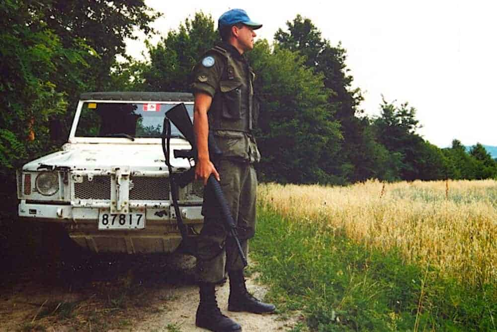 Tom Morin in 1993 on patrol in the former-Yugoslavia.