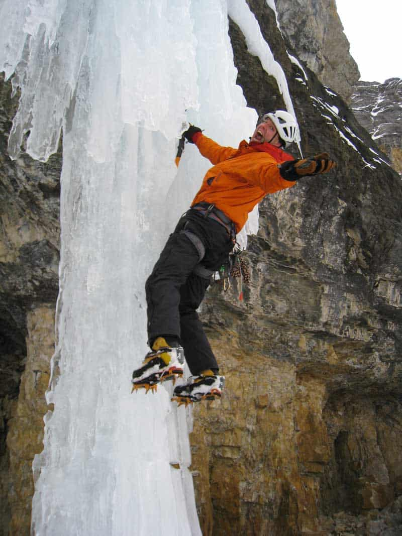 Tom Morin ice climbing