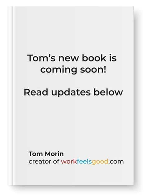 Cover of Tom's upcoming book that tells users to read the update, below.